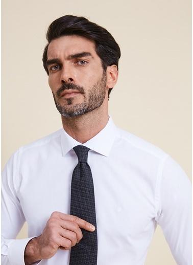 Bisse GMET2005 Regular Fit Düz İtalyan Yaka Gömlek Beyaz